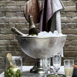 Large Brush Silver 'Cuvee De Prestige' Champagne Cooler