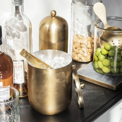 Brass Finish Ice Bucket