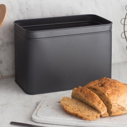 Marble Lidded Bread Bread Bin in Carbon