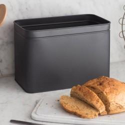 Marble Lidded Bread Bread Bin in Carbon