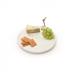 Round Embedded Enjoy Marble Serving Platter