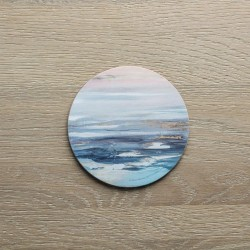 Set of 4 Round Contemporary Calm Coasters