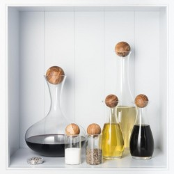 The Ultimate Oak Stoppered Glass Bottle Set