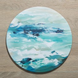 Set of 4 Modern Round Ocean Placemats