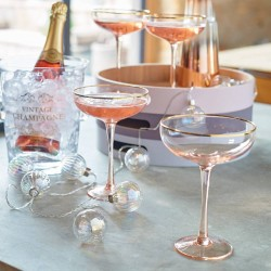 Blush Pink Prosecco or Champagne Coupes Set of 2