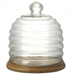 Beehive Glass Dome With Wooden Base