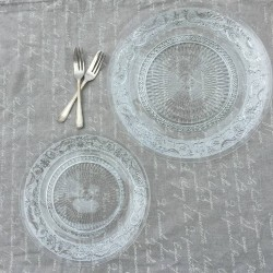 Glass Lacework Serving Plate