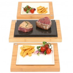 The Steak Sharer & Server Hot Stone Cooking Set