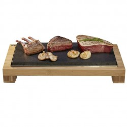 The Hot Stone Cooking Raised Sharing Steak Plate