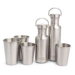 Stainless Steel Cups & Bottles Set