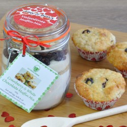 Personalised Cranberry & White Chocolate Muffin Mix for Valentines