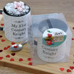 Personalised Romantic Mug Cake Gift for Him