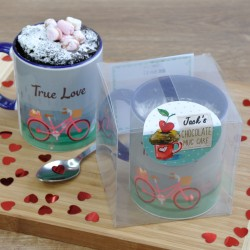 Romantic Mug Cake Gift for Her with Personalisation