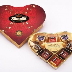Chocolate Heart Praline Gift Box