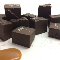 Salted Caramel Dark Chocolate Fudge