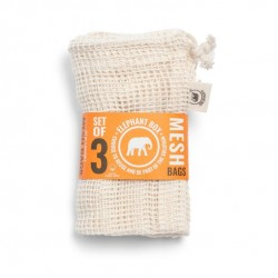 Cotton Mesh Produce Bags - Set of 3