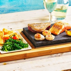 The Sizzling Steak Plate Hot Stone Cooking Set