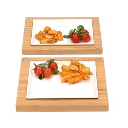 Bamboo & Ceramic Serving Sets