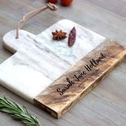 Personalised Marble and Mango Wood Cheese Board