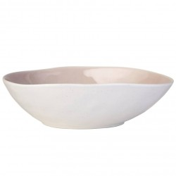 Blush Pink Porcelain Pasta Bowl