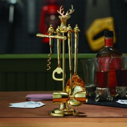 Gold Stag Four Piece Bar Set