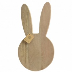 Mango Wood Easter Bunny Serving Board