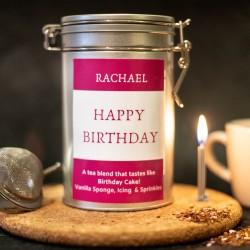 Personalised Birthday Cake Flavoured Tea