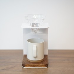 White Pour Over Coffee Stand & Dripper