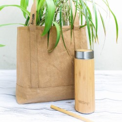 Zero Waste Shopping Kit (Reusable Bag, Bottle & Straw)