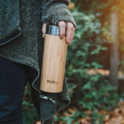 Reusable Bamboo Thermos Flask