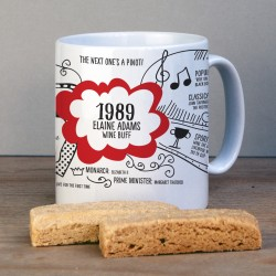 Personalised 30th Birthday 1989 Mug Gift