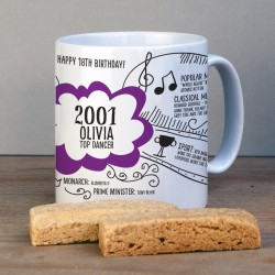 Personalised 18th Birthday 2001 Mug Gift