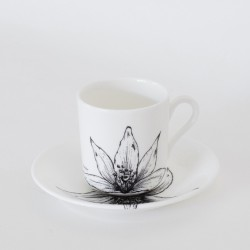 Fine Bone China Coffee Can Cup & Saucer