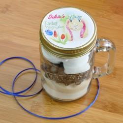 Personalised Dairy- Free Easter Bunny Chocolate Cake in a Kilner Jar