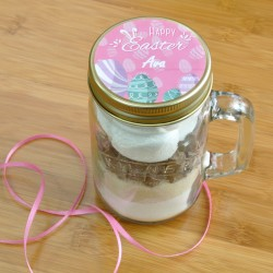 Vegan Personalised Easter Chocolate Cake in a Kilner Jar