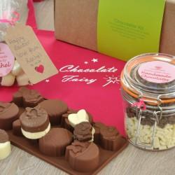 Personalised Easter Chocolates Making Kit with Apron - Regular, Dairy Free & Vegan Options
