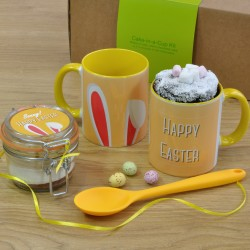 Vegan Personalised Easter Chocolate Mug Cake Gift Set