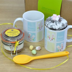 Bunny Power! Personalised Gluten-Free Chocolate Mug Cake Gift Set for Easter