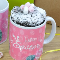 Vegan & Dairy-Free Personalised Easter Chocolate Mug Cake Gift Set