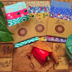 Reusable Beeswax Wraps - Fruit & Veg Pack of 3