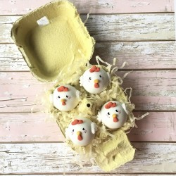 Gluten Free Easter Egg Chick Cake Balls Box