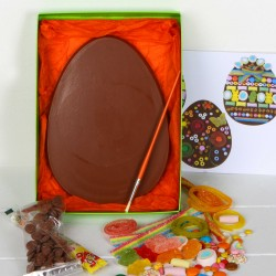 Large Chocolate Easter Egg Decorating Kit