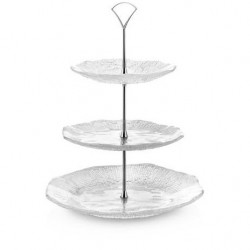 Diamante' Three Tier Glass Stand