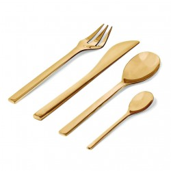 Alessi Colombina Brass Cutlery Set of 24