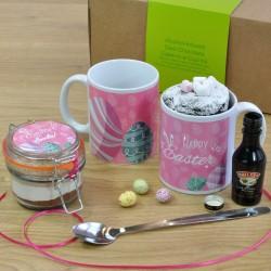 Easter Eggs Personalised Alcohol-Infused Mug Cake Gift Set