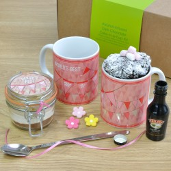 Worlds Best Mum Alcohol-Infused Chocolate Mug Cake Gift Set