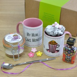 My Mum Cake Monster Alcohol-Infused Chocolate Mug Cake Gift Set