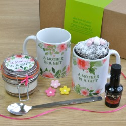 Mother, Nana, Grandma, Granny or Gran's Alcohol-Infused Chocolate Mug Cake Gift Set