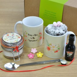 'Being a Mum is my Superpower' Alcohol-Infused Chocolate Mug Cake Gift Set