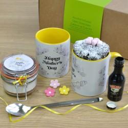 Happy Mothers Day Alcohol-Infused Chocolate Mug Cake Gift Set